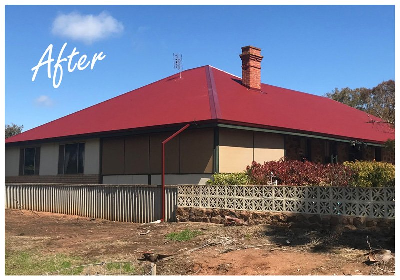 Old house in Geraldton after roof replacement