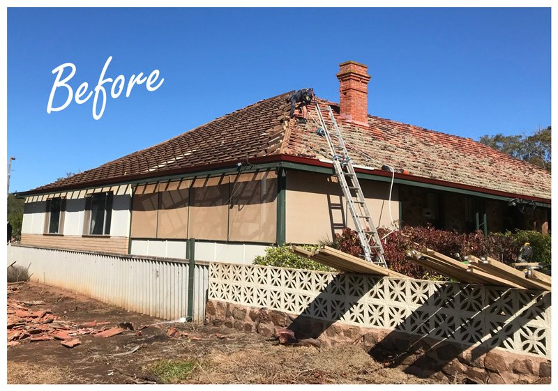 Old house in Geraldton before roof replacement